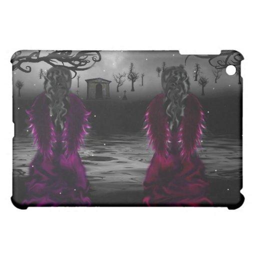 Caso gótico del iPad de las hermanas del ángel