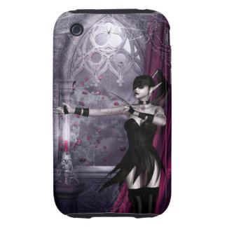 Caso gótico del iPhone 3 del chica de Mechanika Tough iPhone 3 Cobertura