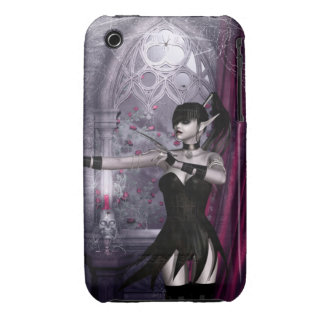 Caso gótico del iPhone 3 del chica de Mechanika Case-Mate iPhone 3 Cárcasa