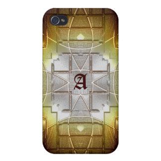 Caso gótico del iPhone 4 de la mirada del vidrio d iPhone 4/4S Carcasas