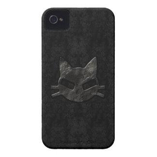 Caso gótico del iPhone 4 del mún negro del gatito iPhone 4 Case-Mate Carcasas