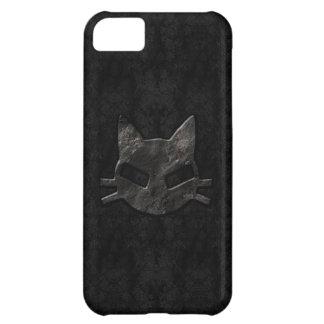 Caso gótico del iPhone 5 del mún negro del gatito