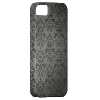 Caso gótico del iPhone 5s del damasco floral negro iPhone 5 Case-Mate Protector