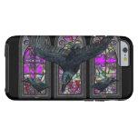 Caso gótico del iPhone 6 del vitral de los cuervos Funda De iPhone 6 Tough