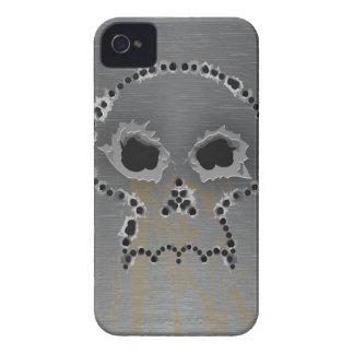 Caso gótico del iPhone del cráneo de los agujeros iPhone 4 Fundas