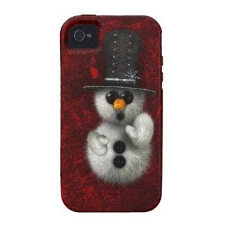 Caso gótico del iPhone del muñeco de nieve Vibe iPhone 4 Fundas