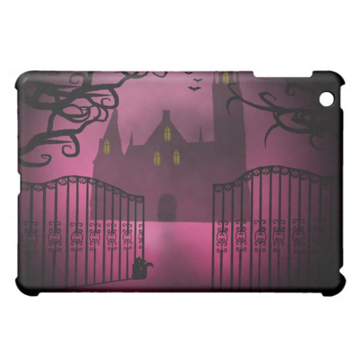 Caso gótico rosado del iPad del castillo