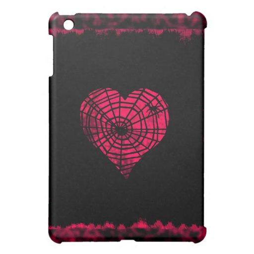 Caso gótico rosado del iPad del corazón