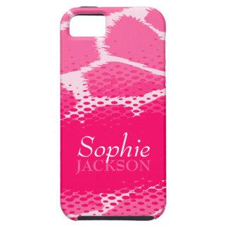 Caso gráfico rosado del iphone 5 del estampado de iPhone 5 carcasas