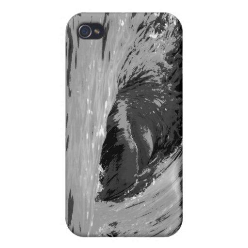 Caso grande del iphone 4 de la onda iPhone 4 cárcasa