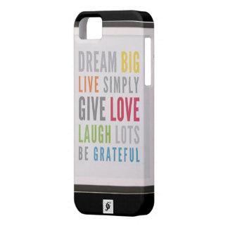Caso grande ideal del iPhone 5/5S de Barely There iPhone 5 Fundas