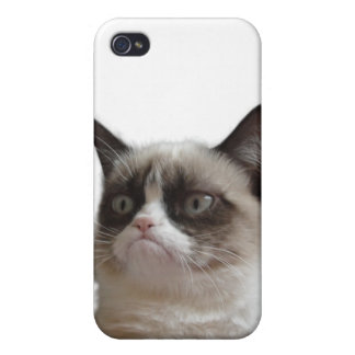 Caso gruñón del iPhone 4 del gato iPhone 4 Cárcasa