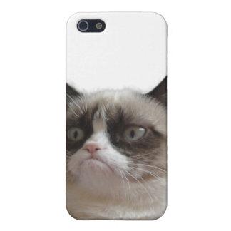 Caso gruñón del iPhone 4 del gato iPhone 5 Funda