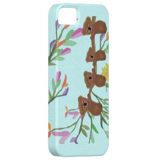 Caso hacia fuera IPhone 5 de las koalas de Haning iPhone 5 Case-Mate Cárcasa