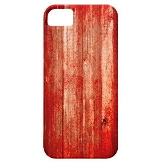 caso Halloween de madera sangriento rojo del iPhone 5 Funda