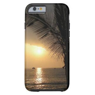 Caso hawaiano de la puesta del sol funda de iPhone 6 tough