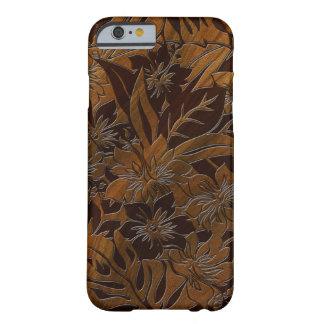 Caso hawaiano de madera del iPhone 6 de la playa