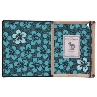 Caso hawaiano del iPad de DODOcase del hibisco de
