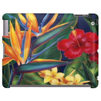 Caso hawaiano del iPad del paraíso tropical Funda Para iPad
