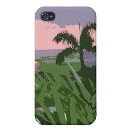 Caso hawaiano del iPhone 4 de la escena de Digitac iPhone 4/4S Carcasas