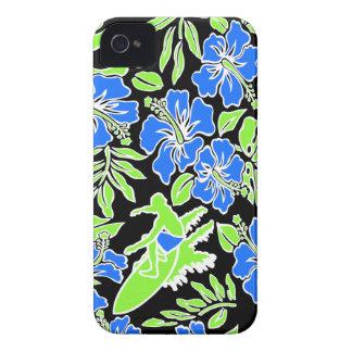 Caso hawaiano del iPhone 4 de Pareau de la resaca iPhone 4 Case-Mate Funda
