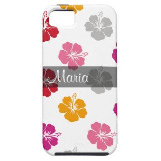 Caso hawaiano del iPhone 5 del monograma iPhone 5 Carcasas