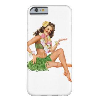Caso hawaiano del iPhone 6 del chica del Funda De iPhone 6 Barely There