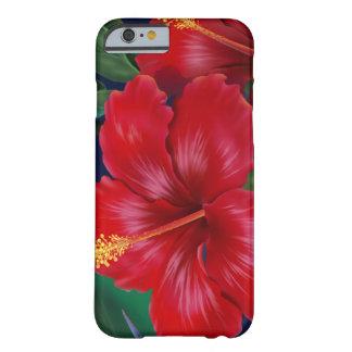 Caso hawaiano del iPhone 6 del hibisco tropical Funda De iPhone 6 Barely There