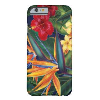 Caso hawaiano del iPhone 6 del paraíso tropical Funda De iPhone 6 Barely There