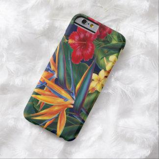 Caso hawaiano del iPhone 6 del paraíso tropical Funda Para iPhone 6 Barely There