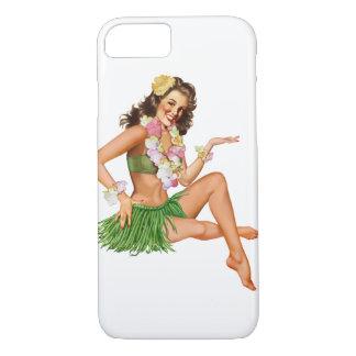 Caso hawaiano del iPhone 7 del chica del Funda iPhone 7