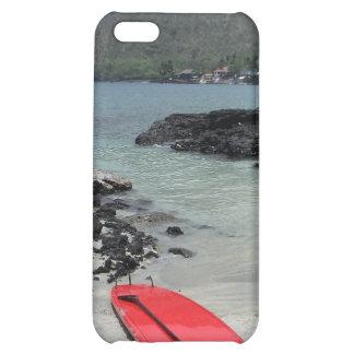 Caso hawaiano del iphone de la escena de la playa
