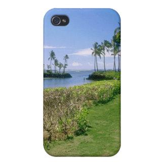 Caso hawaiano del iPhone de la playa de la roca de iPhone 4/4S Fundas