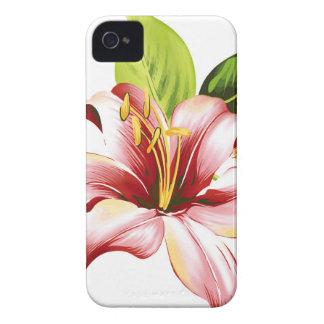 Caso hawaiano rosado de Iphone 4S de la flor Carcasa Para iPhone 4 De Case-Mate