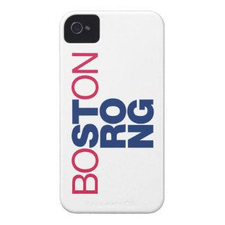 Caso Helvética fuerte del iPhone 4 de Boston iPhone 4 Cárcasa