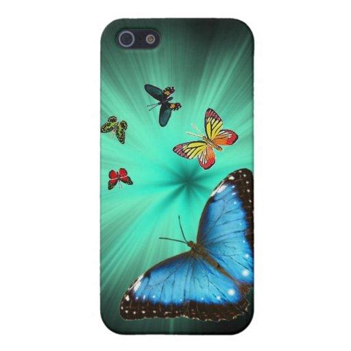 Caso hermoso de Iphone 4 del viaje de la mariposa iPhone 5 Cárcasa