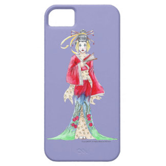 Caso hermoso de Iphone 5 del geisha Funda Para iPhone 5 Barely There