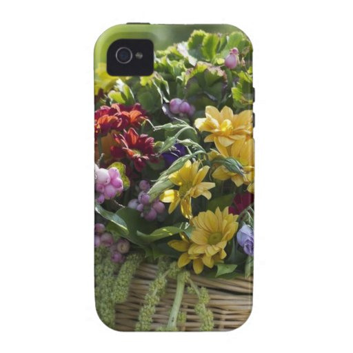 Caso hermoso del iPhone 4 del arreglo floral Case-Mate iPhone 4 Funda