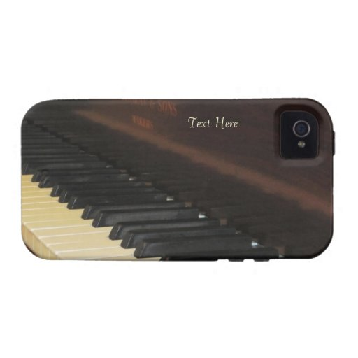 Caso hermoso del iPhone 4 del piano Vibe iPhone 4 Fundas