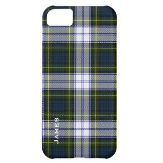 Caso hermoso del iPhone 5 de la tela escocesa de t