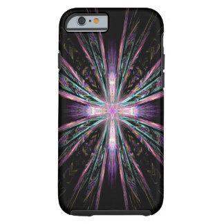 Caso hermoso del iPhone 6 de la cruz del fractal Funda De iPhone 6 Tough
