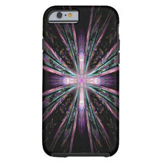 Caso hermoso del iPhone 6 de la cruz del fractal
