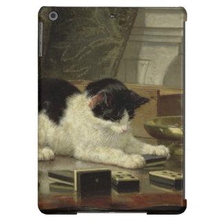 Caso holandés del iPad de la pintura del gato del