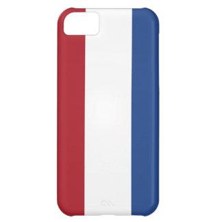 Caso holandés del iphone 5 de la bandera