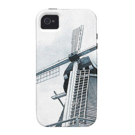 Caso holandés del iPhone del molino de viento Vibe iPhone 4 Fundas