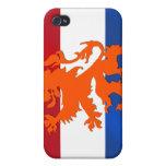 Caso holandés del iPhone del regalo de la bandera  iPhone 4/4S Funda