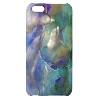Caso ideal del arte del delfín para el iPhone 4