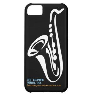 Caso ilustrado del iPhone del saxofón Funda Para iPhone 5C