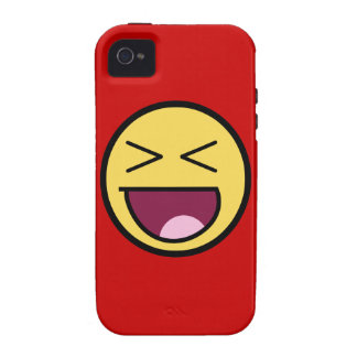 Caso impresionante feliz del iPhone 4 de Tough™ de iPhone 4 Carcasa