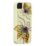 Caso increíble del iPhone 4 del amarillo de la mar Case-Mate iPhone 4 Carcasa